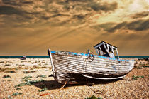 dungeness wreck in colour by meirion matthias