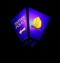 Blue Police Lamp by Buster Brown Photography
