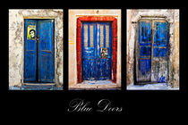 blue doors of Santorini by meirion matthias