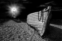 fishing boat graveyard after dark by meirion matthias