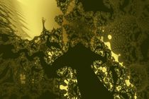 Flussdelta in Gold von dalmore