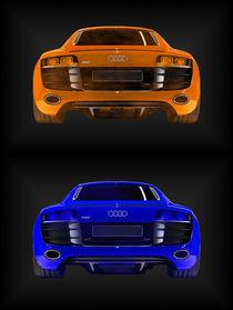 Audi R8 orange blau (2er) von dalmore