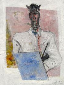 Porträt eines jungen Künstlers als Pferd by Edgar Piel