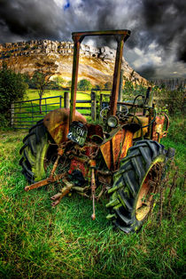 tractor below the eglwysegs by meirion matthias