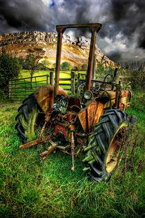 tractor below the eglwysegs von meirion matthias