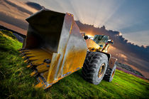 aggressive wheel loader by meirion matthias