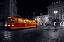 Tram at Night-Composite by serenityphotography