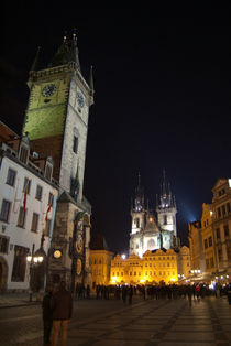 Old Town Square at Night, Prague von serenityphotography