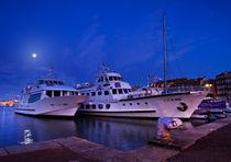 Old Port of Marseille in moon light von Vsevolod Istratkin