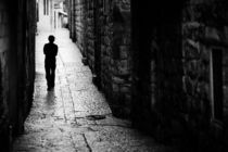 Jerusalem street walker by Victor Bezrukov