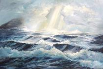 Meer, leicht stürmisch von Helga Koch