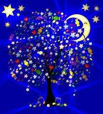 Musikalischer Baum bei Nacht von Hildegard Maria Endner