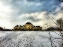 Schloss Solitude im Winter by Ursula Wolfangel-Hoppmann