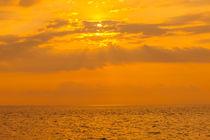 orange pacific sunset by Craig Lapsley