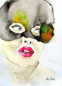 Mask In Watercolor von Jacqueline Schreiber