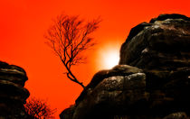sunset at brimham rocks von meirion matthias