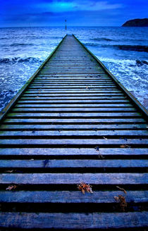 jetty in blue by meirion matthias