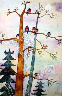 Birds in Winter von Ekta Godhwani Yadav