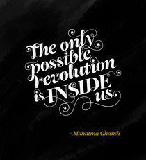 Revolution inside us - black von Laura Serra