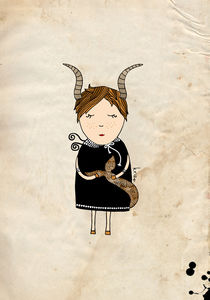 Capricorn Girl by Kristina  Sabaite