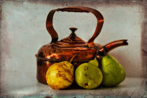 Copper Kettle With Pears by inkedsandra