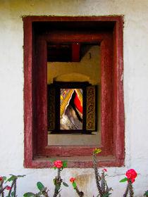 Klosterfenster Luang Prabang, Laos von Veit Schuetz