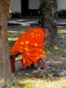 Buddhistischer Mönch, Luang Prabang, Laos by Veit Schuetz