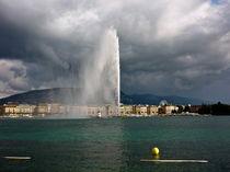Genfer See, Genf, Schweiz by Veit Schuetz