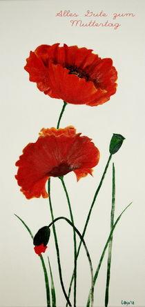 Zwei Mohnblumen zum Muttertag von Lidija Kämpf
