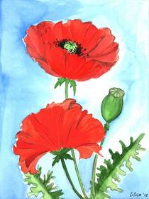 2 Mohnblumen by Lidija Kämpf
