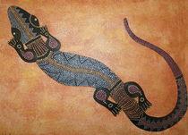 Gecko Malerei der Aborigines von Lidija Kämpf