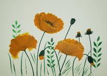Mohnfeld orange von Lidija Kämpf
