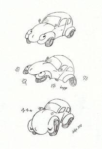 VW Käfer Comic von Lidija Kämpf