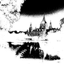 Maschteiche mit Rathaus by Tina M. Emig