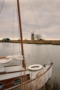Thurne Mill, and Boat by sandra cockayne