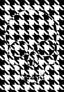 houndstooth skull #4 von skarmut