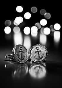 Anchor Cufflinks Bokeh by Buster Brown Photography