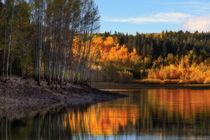 Autumn Morning by the Lake by Douglas Pulsipher