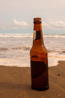 beer bottle on a tropical beach von Craig Lapsley