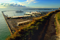 Dover Docks from the White Cliffs by serenityphotography