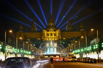 Famous light show in front of the National Art Museum in Barcelona von Tanja Krstevska