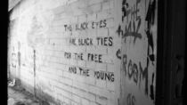message on the wall in abandonded place by Daria Phobia