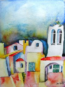 Watercolor ... meets Greek architecture von Jacqueline Schreiber