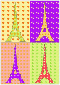 Pop Eiffel Tower von Ipso Imago