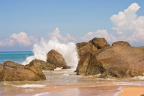 Breaking wave, Beach Sri Lanka by reorom