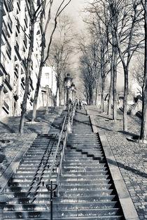 Treppen hinauf  zu Sacré-Cœur von Stephanie Wüstinger