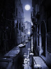 Venezia Sotto La Luna Blu by Tom Weber