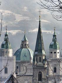 Church rooftops von Melinda Szente