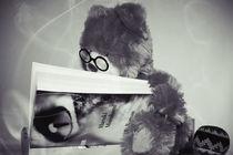 Teddy liest Murakami ́s Kafka am Strand by Stephanie Wüstinger