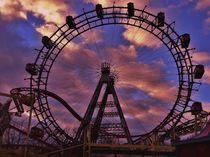 Ferris wheel in Prater, Vienna von Melinda Szente